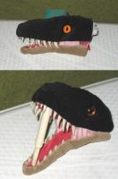 Raptor plushie WIP by Amadare90