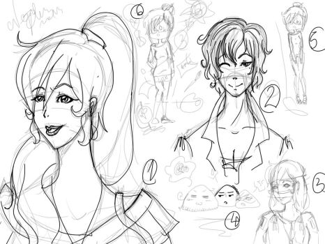 Graphic Tablet Practice Sketch  Dump by AskMamaDacia