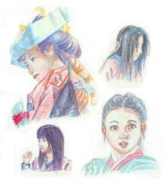 Korean and Japanese woman by Mee-Lin
