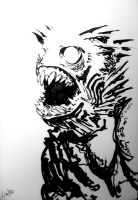 Dagon ink sketch by francesco-biagini