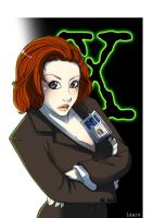 Commission: Dana Scully by Liaze