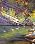 Rock pool Painting by artsaus