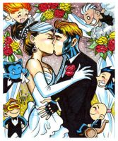 Rogue Gambit wedding by Sonion