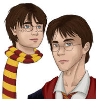 Harry Potter, Then and Now by Itabia