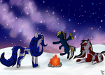 Standing in The Starry Night .::CE::. by hawkbreath1
