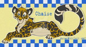 Chaise The King Cheetah by azianwolfdoll