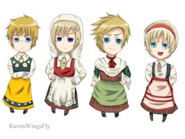 100 DEVIANTATION: Traditional Nordics by RavenWingsFly