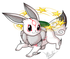 Amaterasu :: Eevee by Luifex