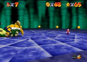 Super Stevio 64 Stevio beats Bowser by Aso-Designer