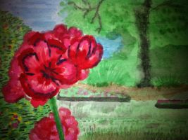 flower painting by rafalmania