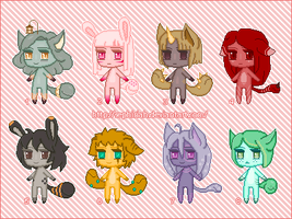 TailMouth Dolls Adops [Open] by Sephiriah
