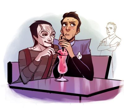 Garak and Bashir by cryoclaire