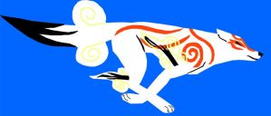 non-outline styled Okami 2 by WingedWolfGirl