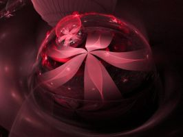 Red Floral Paperweight by DWALKER1047