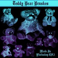 Teddy Bear Brushes by dollieflesh-stock