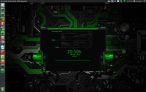 Green Machine With Green Conky by speedracker