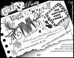 Grease Party BACK by Flyer86