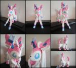 Sylveon Eeveelution Plushie by Zeldounette