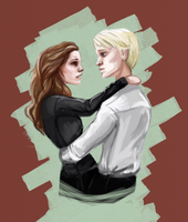 Hermione and Draco by Flomaniaque
