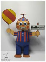 five nights at freddy's 2 balloon boy papercraft by Adogopaper