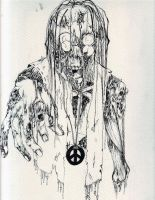 Hippie Zombie Line Art by Harlequin-Ink