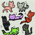 Adoptables Batch 2 by Halfkit