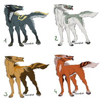 wolf adoptable batch 1 CLOSED by DarkDragonBlood