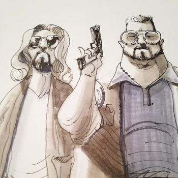 The Dude and Walter by JaredPrime