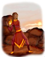 Her Daughter, The Firebender by scissors89