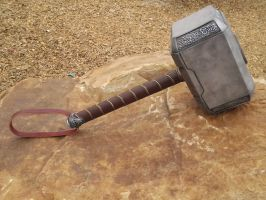 Leather wrapped Dark world hammer 2013 C by NMTcreations