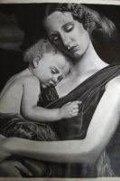 Mother and child by depoi