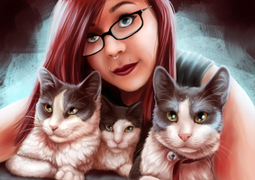 Commission - Cat Selfies by shortini