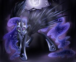 MLP: FiM NIGHTMARE MOON by dreampaw