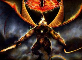 balrog detail by aryundomiel