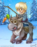 Dreamteam . Kristoff  and Sven by Daishota
