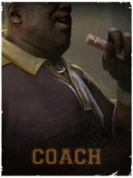 Coach - L4D2 vintage poster by The-Loiterer