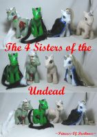 The 4 Sisters of the Undead by DeepDarkCreations