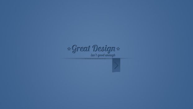 Great design isn't good enough by hostister