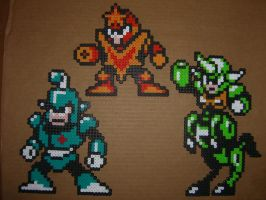 Megaman bead bosses 4 by zaghrenaut