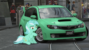 Lyra and her Subaru Impreza (2) by nestordc