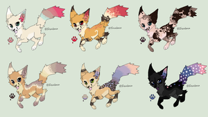 PRICES LOWERED! Auction Adoptables 1 - 2 LEFT! by TinyWolfy
