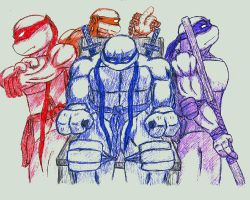 TMNT - Pen Drawing by NinjaTertel