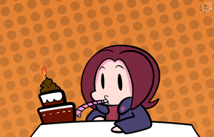 Birthday Doodle for Arin by DuckyDeathly