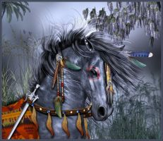 Fantasy Tribal War Horse by sylki51