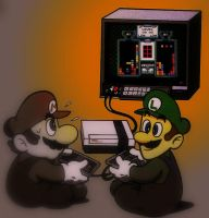 Gamer Bros by Mario64Luigi