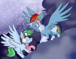 Commission - Spearmint and Nightmare Dash by ZaneZandell
