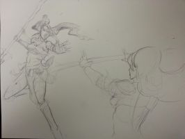 Lux Vs Nidalee WIP by davidkimy