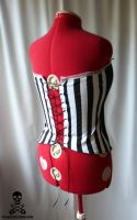 Pirate Skull Stripe Corset 5 by smarmy-clothes