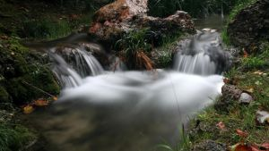brook waterfall by MantillaGreif