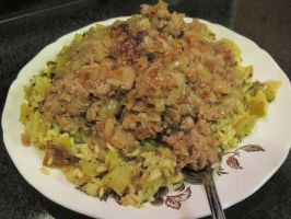 Sweet Onion Turkey with Kiwi-Chayote Rice 1 by Windthin